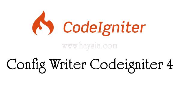 Config Writer Codeigniter 4