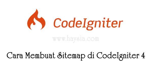 Cara Membuat Sitemap Di CodeIgniter 4